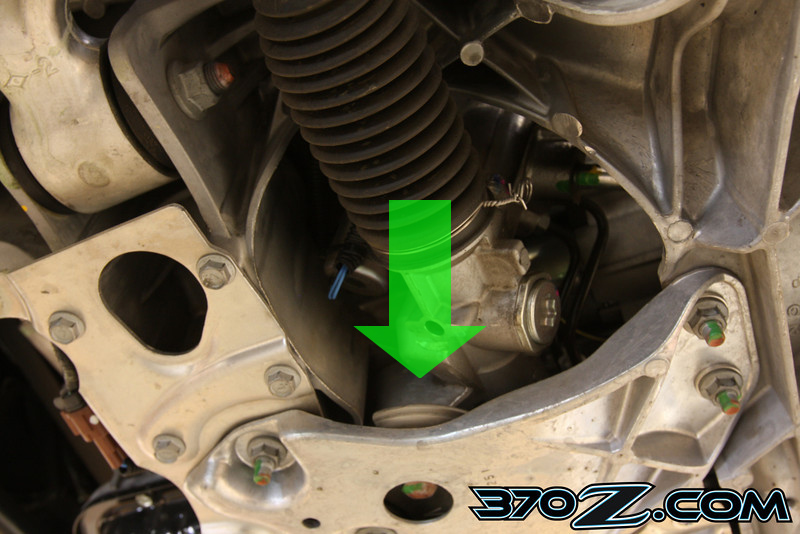 370z drivers side steering rack bushing